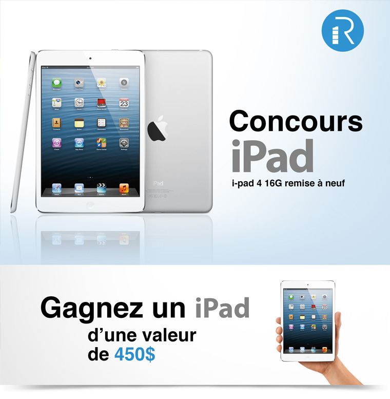 Gagnez un iPad!